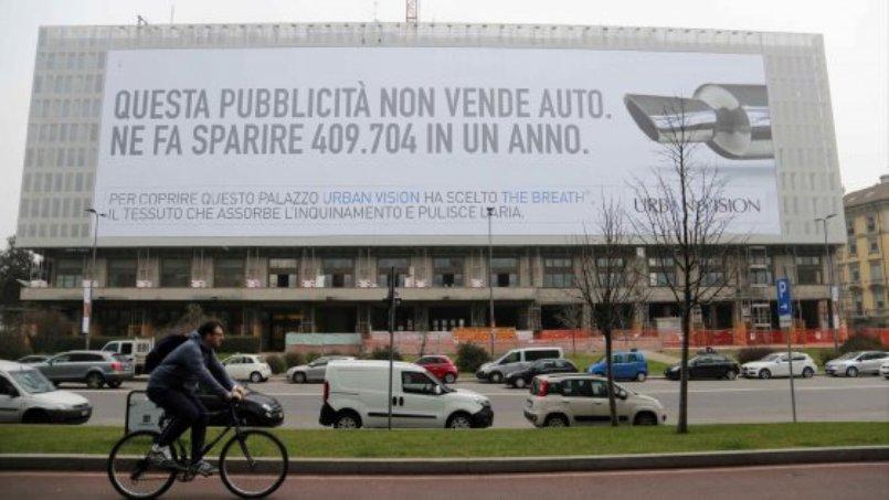 Campagna Outdoor a Milano anti-smog